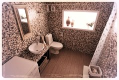 The bathroom in the Nordic Boutique Barn